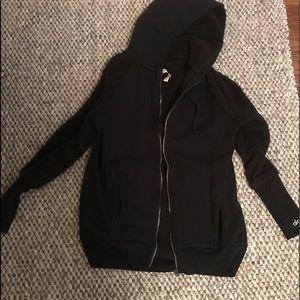 Alo zip long length sweatshirt cozy detail